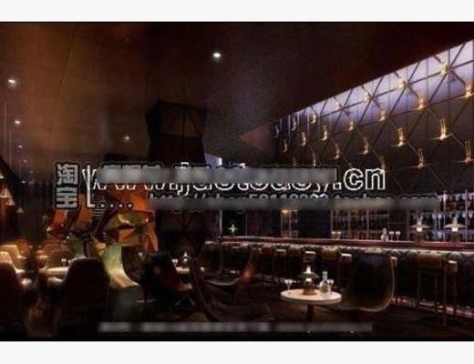 新古典, 酒吧, 单椅, 吸顶灯, 餐桌