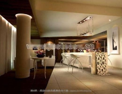 吊灯, 吧椅, 吧台, 挂画, 桌几, 地毯, 简欧, 酒吧