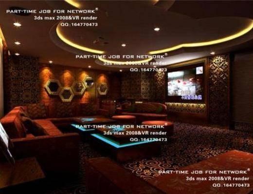 欧式, ktv, 桌几, 墙饰, 吸顶灯, 沙发, 地毯