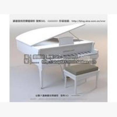 乐器, 现代, 钢琴, 设备, 模型, 音乐