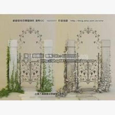 欧式, 栏杆, 铁艺, 双开门