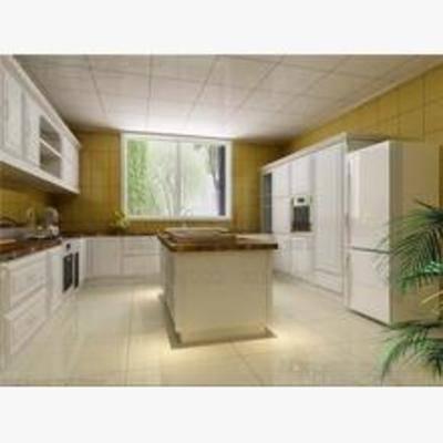 东南亚, 厨具, 橱柜, 厨房, 灶台, 料理台, 盆栽