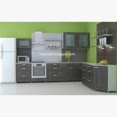 橱柜, 厨具, 现代橱柜, L形橱柜, 现代橱柜3, 置物柜, 简约, 置物架, 烤箱, 烘焙, 抽烟机