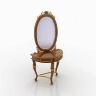镜子, 梳妆台, 欧式梳妆台, 欧式镜子, 梳妆镜