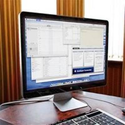 显示器, 现代电器, 液晶, 电脑, 键盘, 窗帘
