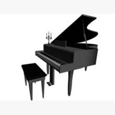 乐器, 现代, 钢琴, 音乐, 模型