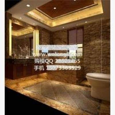 欧式, 镜子, 洗漱台, 浴缸, 灯, 卫生间, 淋浴间