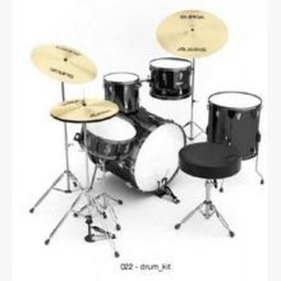 乐器, 现代, 架子鼓, 音乐, 模型