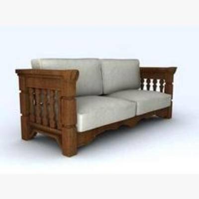 沙发, 新中式, 双人沙发