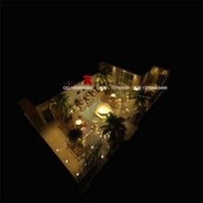 东南亚, 盆栽, 桌椅组合