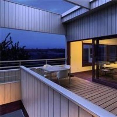 现代, 阳台, 露台, 桌椅组合