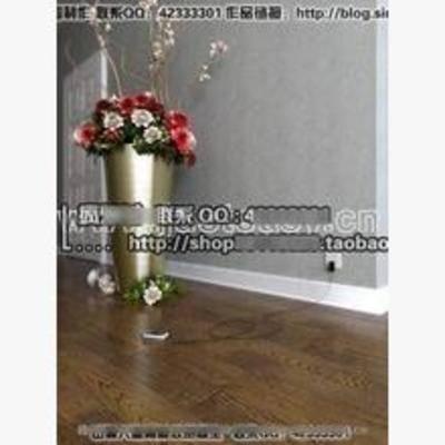现代, 花瓶, 植物