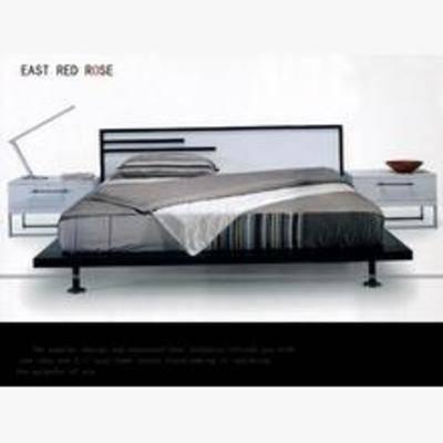 简约床, 平板床, 床3d模型下载, 床, 现代床