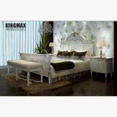简约床, 平板床, 床3d模型下载, 床