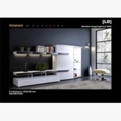 组合式电视柜, 现代电视柜, 电视柜, 现代简约, 简约电视柜