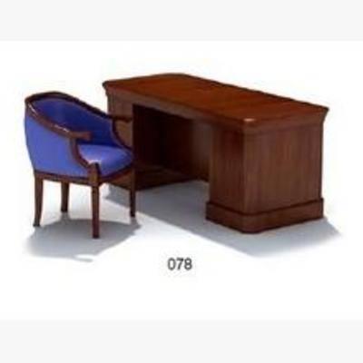 椅子, 3D模型下载, 简欧椅子, 桌子, 书桌, 简欧书桌