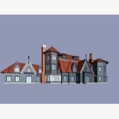现代, 建筑, 别墅, 住宅