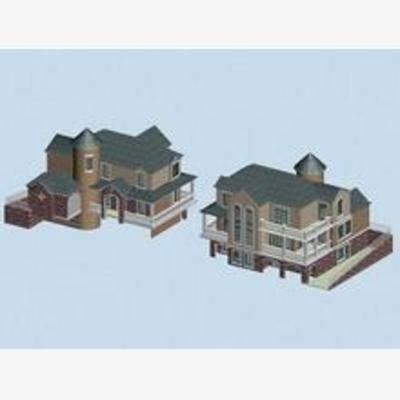 现代, 建筑, 住宅, 别墅