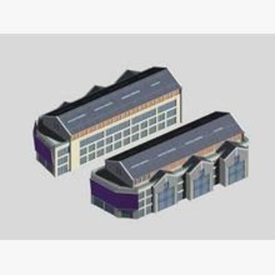 现代, 建筑, 商业街