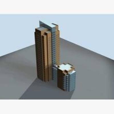 现代, 建筑, 鸟瞰