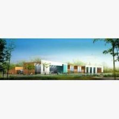 现代, 建筑, 学校, 教学楼