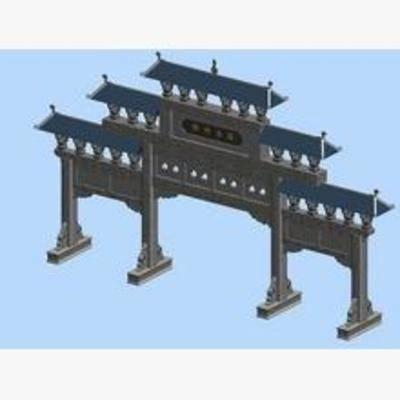 中式, 牌坊, 建筑
