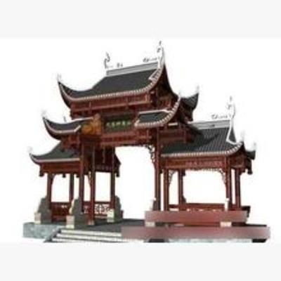 中式, 建筑, 牌坊