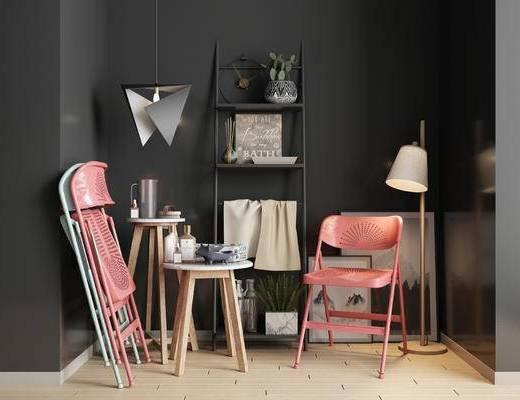 北欧单椅, 单椅组合, 单椅, 边几