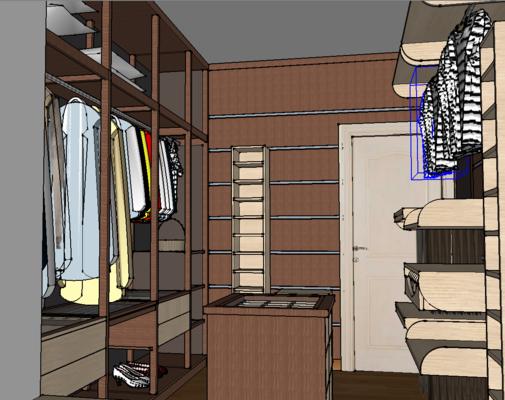 衣帽间, 现代, 置物柜, 衣橱, 衣服