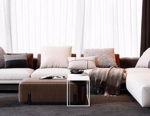 现代沙发, 转角沙发, 沙发组合, 沙发