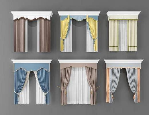 窗簾組合, 窗簾