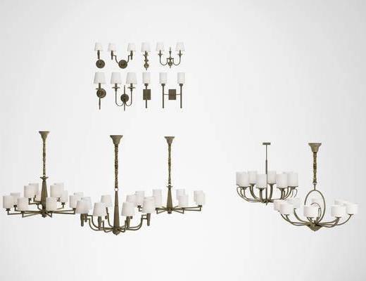 美式, 吊灯, 灯具组合