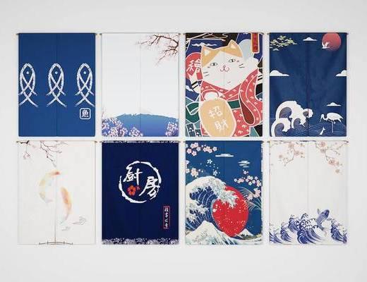 日式, 門簾