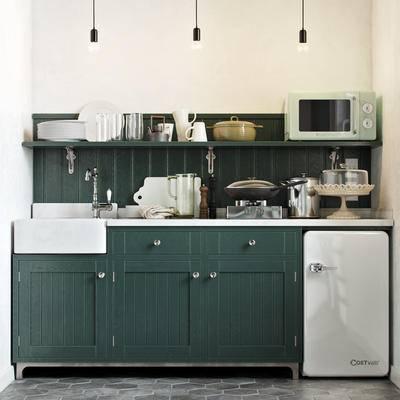 简欧橱柜, 厨房橱柜, 厨具, 橱柜