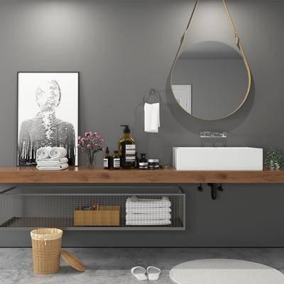 现代, 卫生间, 浴室