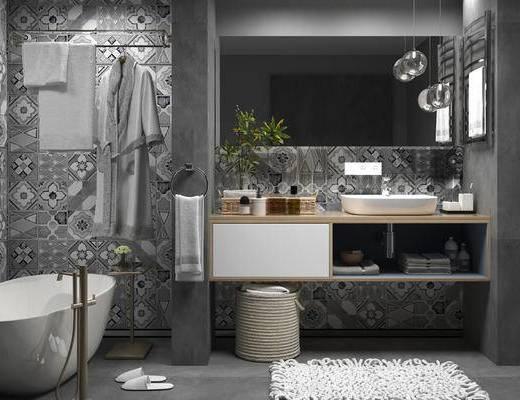 现代, 浴室, 卫生间