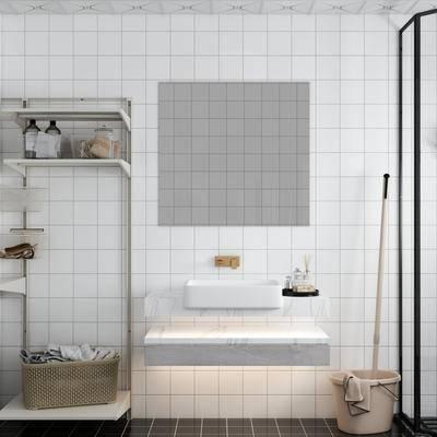 现代, 北欧, 洗手台组合