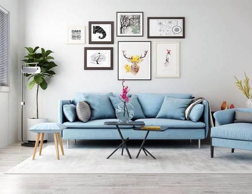 北欧沙发, 沙发组合, 双人沙发
