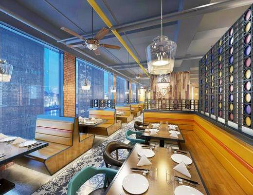工业风餐厅, 复古餐厅, 餐厅