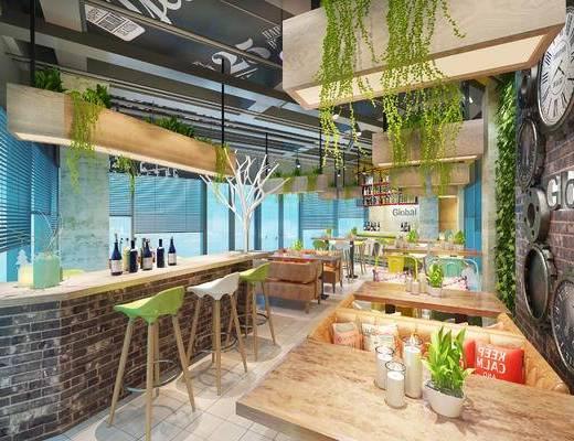 工业风咖啡厅, 复古咖啡厅, 咖啡厅