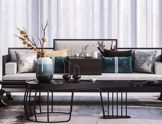 中式沙发, 沙发组合, 多人沙发