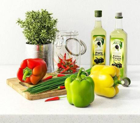 现代摆件, 蔬菜, 辣椒