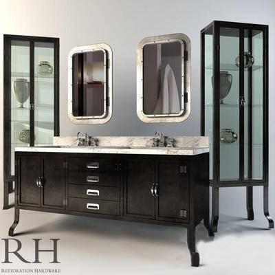 美式柜架, 卫浴柜架, 柜架, 卫浴