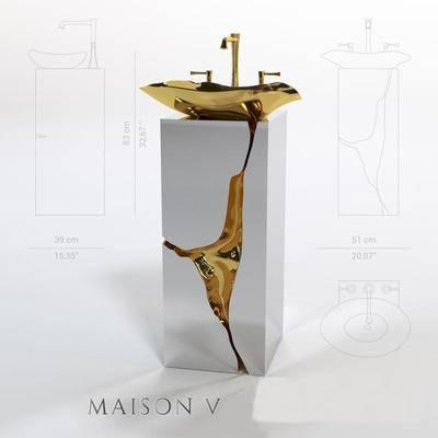 现代洗手盆, 洗手盆