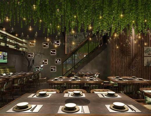 现代工业风餐厅, 餐厅