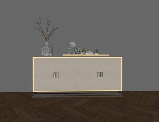 装饰柜架, 置物架, 柜架组合, 新中式, 玄关柜, 摆件组合