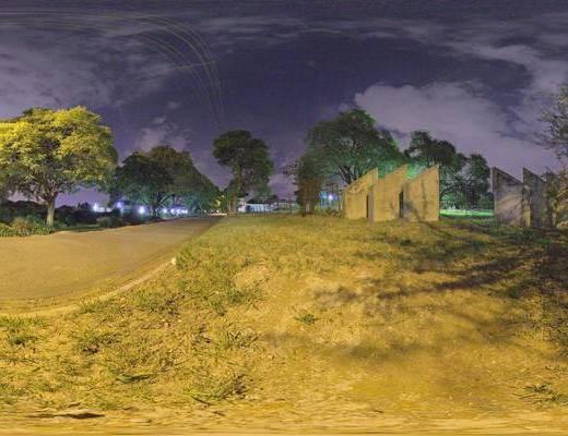 人造光, 夜色, 户外, 部分多云, 城市