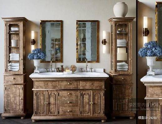 欧式洗手台, 洗手盆
