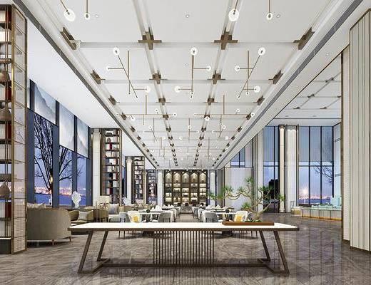 新中式售楼部, 售楼部, 洽谈区