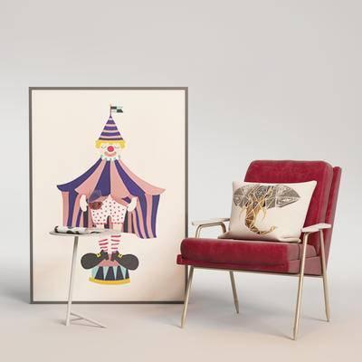 北欧单椅, 单椅组合, 边几组合, 桌椅组合, 单椅